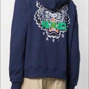 Kenzo men's hoodie sz m navy tiger